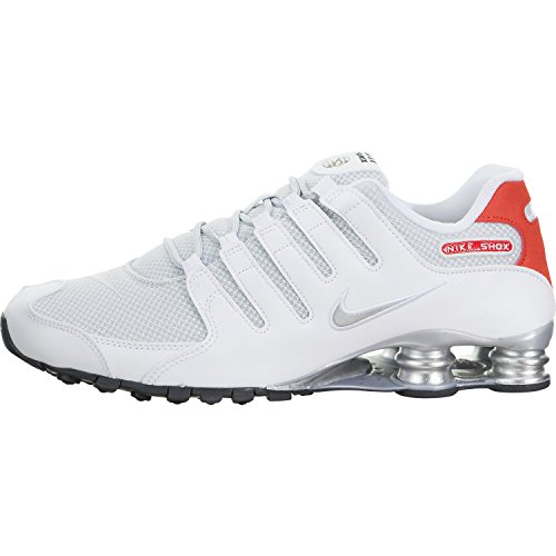Nike Mens Shox NZ Special Edition White/Metallic Silver Mesh Trainers 9.5 US