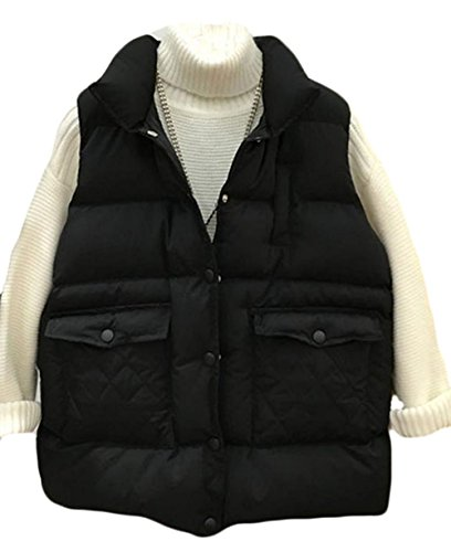 スクランブルやめるペルセウスtopmodelss レディース ダウンベスト 秋冬 厚手 ダウンジャケット ノースリーブ 無地 スタンドカラー アウター ゆったり 着痩せ 軽量 暖かい チョッキ 韓国 カジュアル 女性用