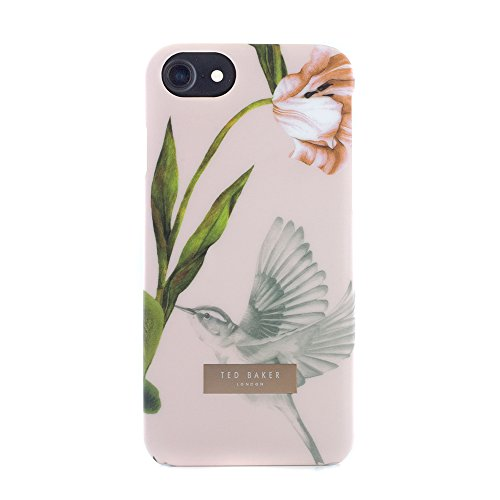 Official TED BAKER® AW15 Soft Feel Shell for Apple iPhone 7, Protective Hard Shell Flower Print Fashion Snap on Back Case for Women - DOBOS - Oriental Floral Nude