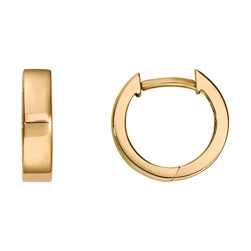 Créoles 333or Boucles d'oreilles Femme-Or jaune 8Ct Diamètre 11,50mm neuf (144490)