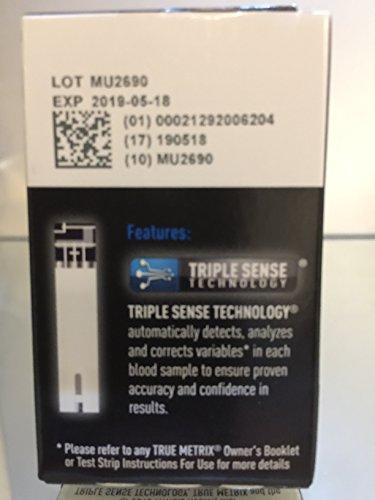 True Metrix Blood Glucose Test Strips Box of 50x2