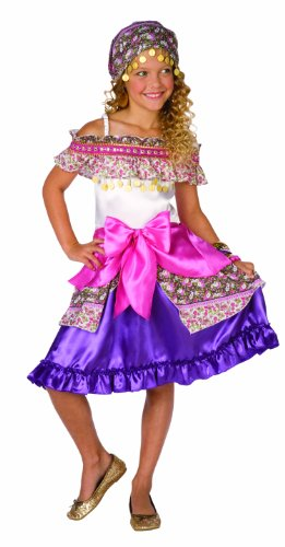 [Elope Gypsy Costume, Pink, Girls 8-10] (Gypsy Costumes Girl)