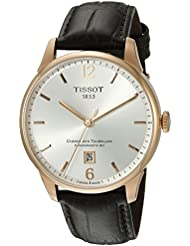 Tissot Mens T0994073603700 Chemin Des Tourelles Powermatic 82 Analog Display Swiss Automatic Brown Watch