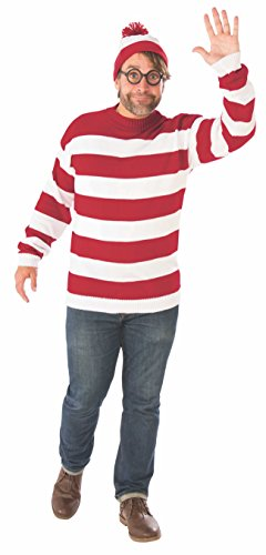 Rubie's Unisex-Adult's Where's Waldo Deluxe Plus Size Costume, as Shown, ()