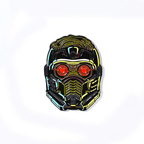 (Star-Lord Peter Quill Mask Pendant Lapel Hat Pin)