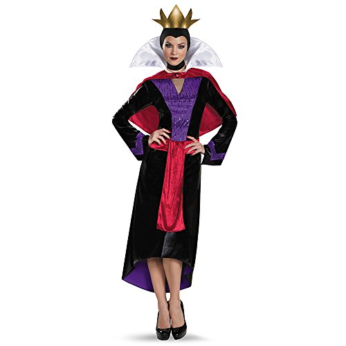 Disguise Women's Evil Queen Deluxe Adult Costume, Multi, Medium (Disney Villain Costume)