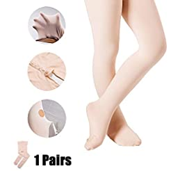 DIPUG Ballet Tights for Girls Footed Pro...
