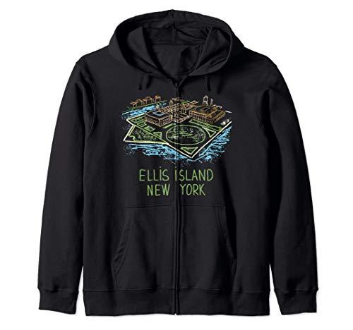 Ellis Island New York Zip Hoodie (The Ellis Island Of Black America Was In)
