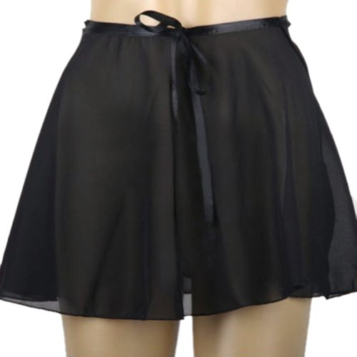 GOGO TEAM Child & Adult Sheer Wrap Skirt Ballet Skirt Ballet Dance Dancewear BLACK-ADULTM - Skirt Dancewear