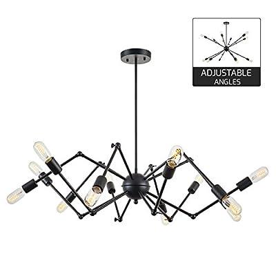 Light Society Arachnid 12-Light Chandelier Pendant Set