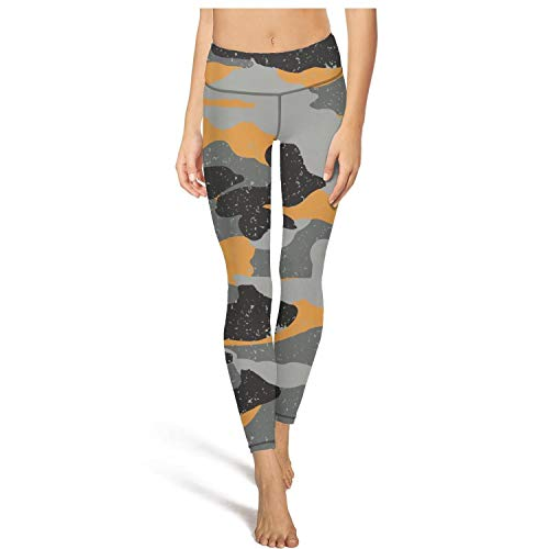 MIENTITE Plain high Waisted Leggings for Women Sports Yoga Pants Military Camouflage Athletic Leggins