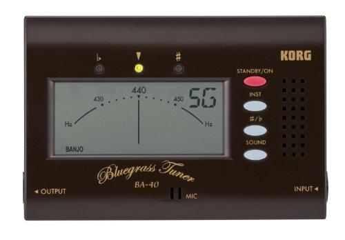 Korg BA40 Bluegrass Tuner for Mandolin, Fiddle, Banjo and Resonator Guitar by Korg