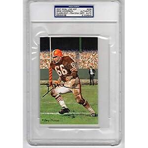 Gene Hickerson signed Goal Line Goalline Art Postcard Cleveland Browns #236 PSA/DNA Slab
