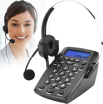 DIGITNOW! Teléfono Fijo - Call Center Teléfono con auriculares manos libres, teléfono con cable incorporado en la pantalla de llamadas, contestar de forma automática o manual Teléfono de la oficina: Amazon.es: Electrónica