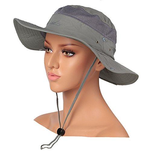 Mazo Camping Hat Outdoor Quick-dry Hat Sun Hat Fishing Cap(Grey)