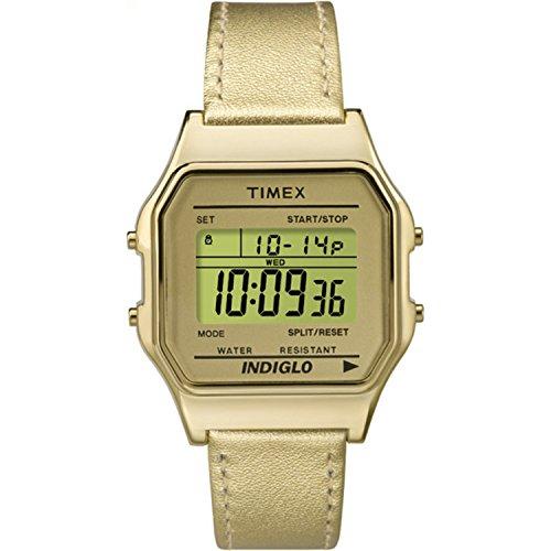 Timex Unisex TW2P76900AB Heritage Collection Digital Display Quartz Gold Watch