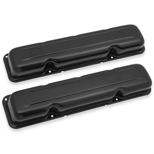 (Mr Gasket 9830BMRG Valve Cover Smooth Top Design Perimeter Style Bolt Patter Sold As A Pair EDP Black Finish Valve Cover)
