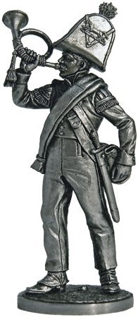 Gornist of the Vanguards Battalion rangers Tin Toy Soldiers Metal Sculpture Miniature Figure Collection 54mm Nap-51 scale 1//32