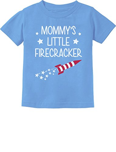 Mommy's Little Firecracker Cute 4th of July Toddler/Infant Kids T-Shirt 24M California Blue]()