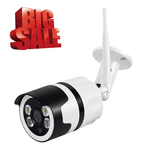 Cheap WiFi Camera Outdoor Home Security Camera 720P Wireless CCTV Bullet IP Camera with IR Night Vision,Motion Detection Alarm/Recording for Indoor Video Surveillance Baby/Elder/Pet/Office Monitor