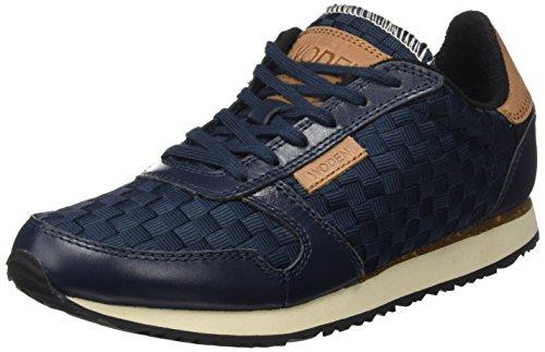Woden Signora Idun Sneaker, Blau Beige (navy)