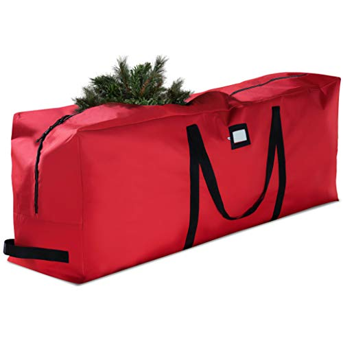 Premium Large Christmas Tree Storage Bag – Fits Up to 9 ft. Tall Artificial Disassembled Trees, Durable Handles & Sleek…