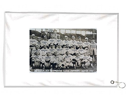 1915 World Series Champs Babe Ruth With Red Sox Novelty Golf Towel Golfers Accessories Cleaning Tool (Putters Ping Series)