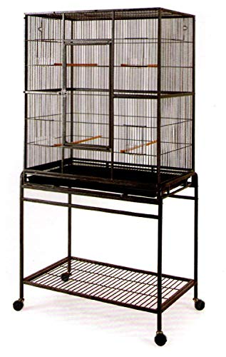 Large Wrought Iron Flight Canary Parakeet Cockatiel Lovebird Finch Cage With Removable Stand #15...