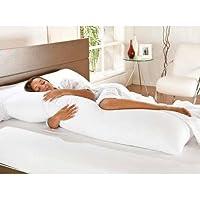 Kit Travesseiro de Corpo + Fronha Mega 02 Peças 100% Algodão - Branco