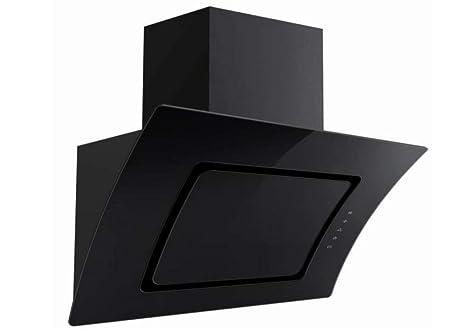 Dunstabzugshaube pkm s2 90abtz 90cm schwarz glas kopffreihaube