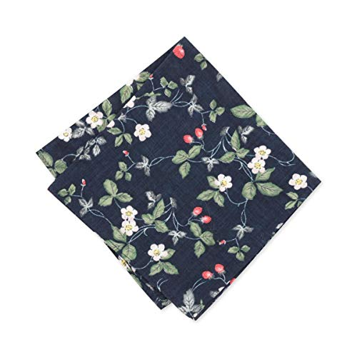 - Bar III Mens Tegla Vine Floral Work Wear Pocket Square Navy O/S