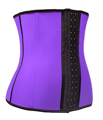 Costume Hire Cape Town (BABY-QQ Comfortable Women's Waist Trainer for Weight Loss Waist Training Cincher Body Shaper, YA-U37G-Purple-XL Purple LatexX-Large)