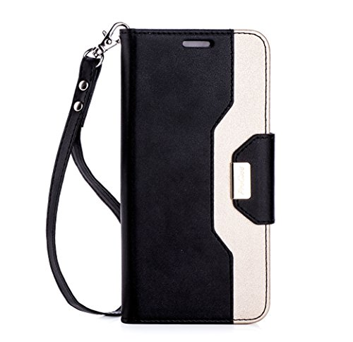new product 8cbf3 57fa8 ProCase Galaxy S8 Wallet Case, Flip Kickstand Case with Card Slots Mirror  Wristlet, Folding Stand Protective Cover for Samsung Galaxy S8 2017