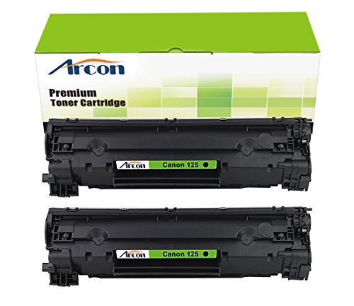 ARCON 2PK Black Compatible Canon 125 Canon125 3484B001AA Toner Cartridge For Canon ImageClass LBP6000 LBP6030w MF3010 Printer