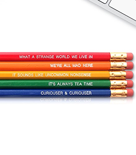 Alice in Wonderland - Inspirational Pencils Engraved With Funny And Motivational Sayings For School And The Office