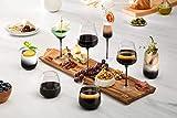 JoyJolt Black Swan Stemmed Martini Glasses, Premium