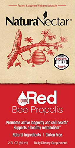 NaturaNectar Liquid Red Propolis Drops, A Hint of Spearmint, 2 FL Ounce