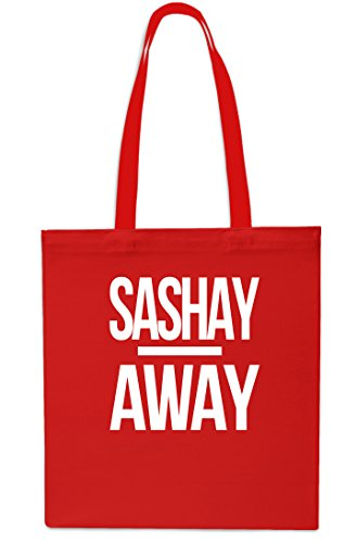 Sashay Away Tote Shopping Gym Beach Bag 42cm x38cm, 10 litres-Black Red