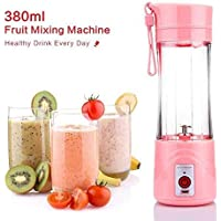 Rose Enterprises Juicer Cup Portable Electric Juicer Blender Rechargeable Personal Juicer Cup Fresh Juice Tool 380ML