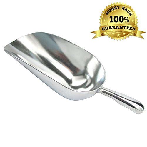 - 12-Ounce Aluminum Utility Scoop Heavy - Ideal for Bars, Fast Food, Kitchen, Dry Bin, Dog Food, Dry Goods, Candy and Spices.(1 Item)