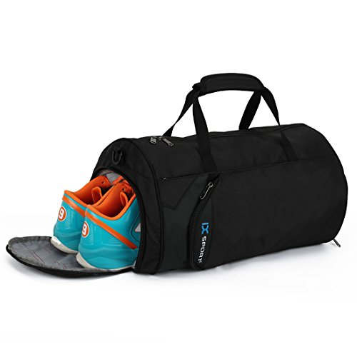 INOXTO Fitness Sport Small Gym Bag with Shoes Compartment Waterproof Travel Duffel Bag for Women and Men -