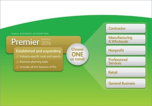 QuickBooks Premier 2016 Small Business Accounting Software with Industry Editions [Old Version]