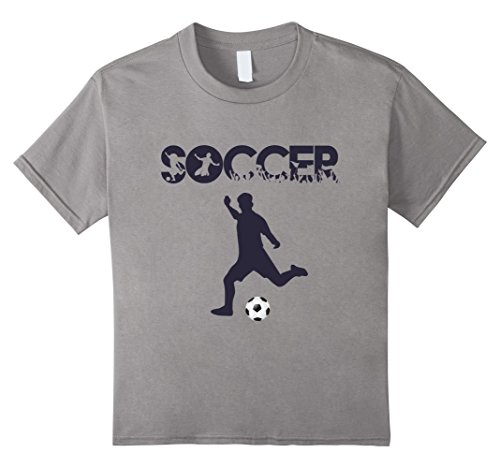 Kids Soccer T-Shirt Cool Player Futbol Lovers xmas Gift Top Tee 10 Slate