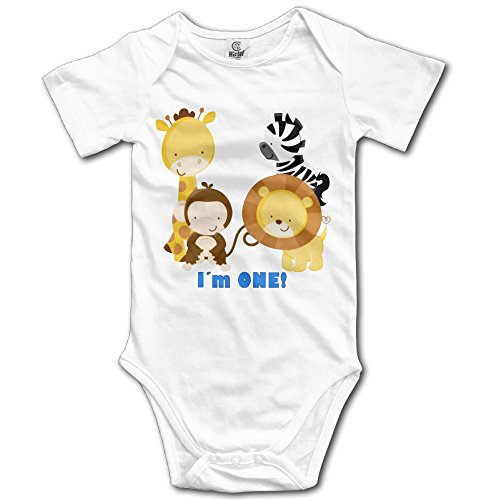 Jungle Safari 1st Birthday Baby Playsuit Outfits Bodysuit In 4 Sizes