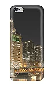 For Iphone Case, High Quality Awesome Chicago River Night For Iphone 6 Plus Cover Cases