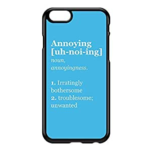 Annoying Black Hard Plastic Case for iPhone 6 by textGuy + FREE Crystal Clear Screen Protector
