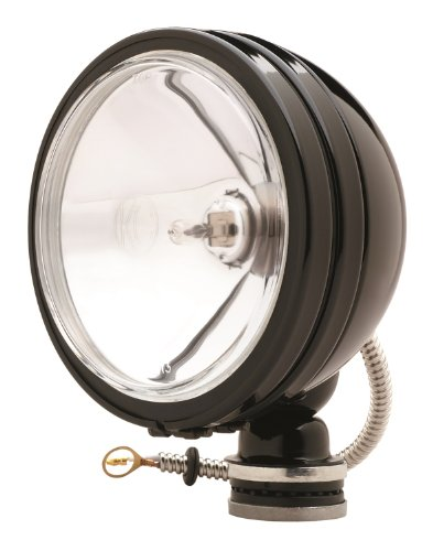 Light Plus Halogen Spot Beam - KC HiLiTES 1238 Daylighter Black 100w Single Spot Beam Light with Cover
