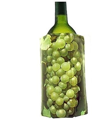 Compra Vacu Vin 3881460 - Enfriador para botellas de vino, diseño uvas blancas en Amazon.es