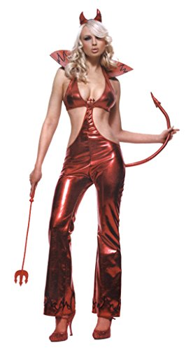 Leg Avenue Womens Devil Jumpsuit Wicked Outfit Fancy Dress Sexy Costume, L (Devil Sexy Costumes Adult Jumpsuit)