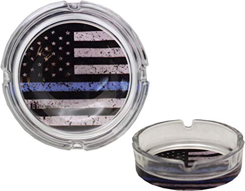 Peerless Embroidery Blue Line Flag Ash Tray